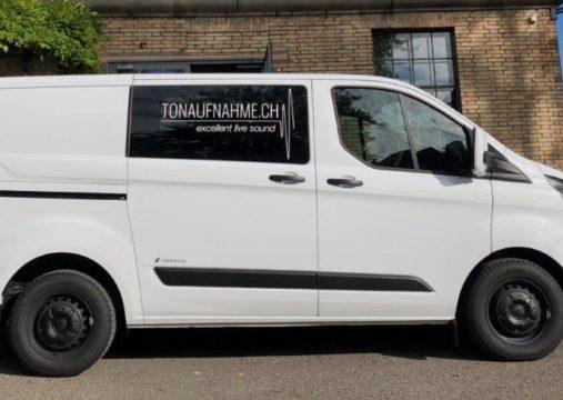 Tonaufnahme.ch - Transporter für excellent live sound - PA-Live-Beschallung - Band-Mobil - Ford Transit Custom